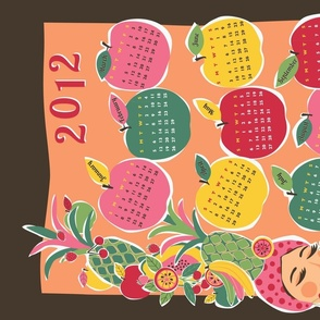 Carmen Calendar Tea Towel (for linen-cotton)