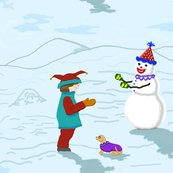 Rclowns_boy__snowman_and_dog_revise_colors_plus_2_shop_thumb