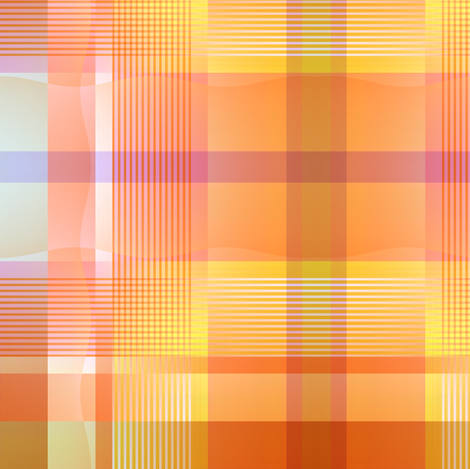 Plaid in Peach fabric by joanmclemore on Spoonflower - custom fabric