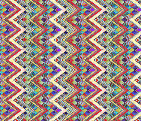 Chevron Drumbeat fabric by joanmclemore on Spoonflower - custom fabric