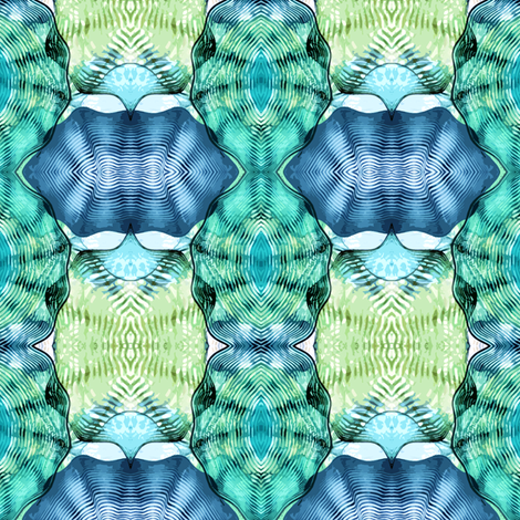 Glass in Blue and Green fabric by glennis on Spoonflower - custom fabric