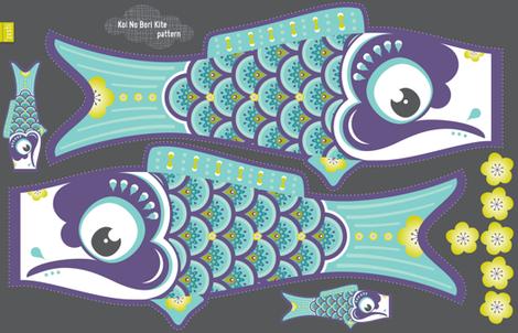 Koi No Bori Kite Pattern BLUE