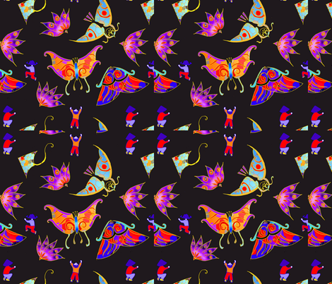 imprimé_cerf_volant_2 fabric by nephilim on Spoonflower - custom fabric