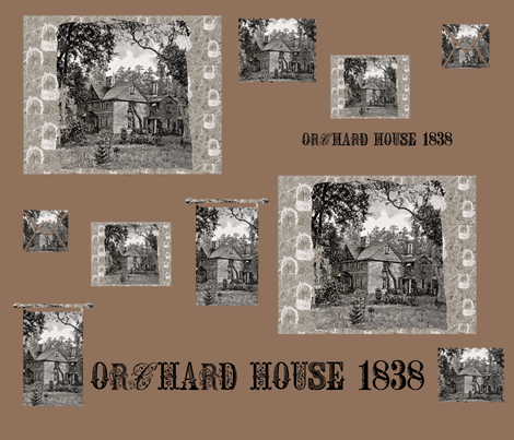 orchard_house_1838_fabric fabric by karenharveycox on Spoonflower - custom fabric