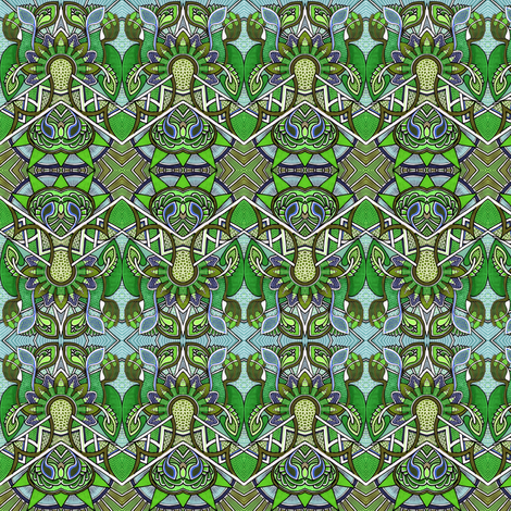 Picking Green Berries fabric by edsel2084 on Spoonflower - custom fabric
