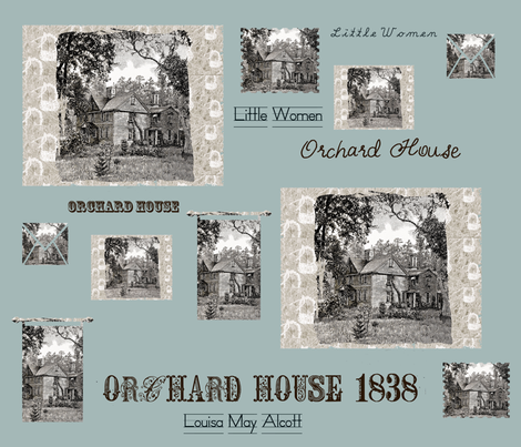 Orchard House, home of Little Women fabric by karenharveycox on Spoonflower - custom fabric