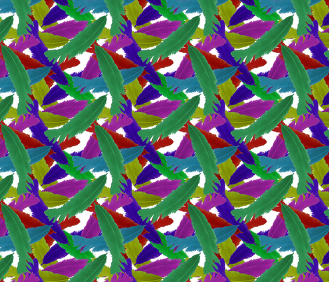 Little Parrot Fight fabric by nezumiworld on Spoonflower - custom fabric