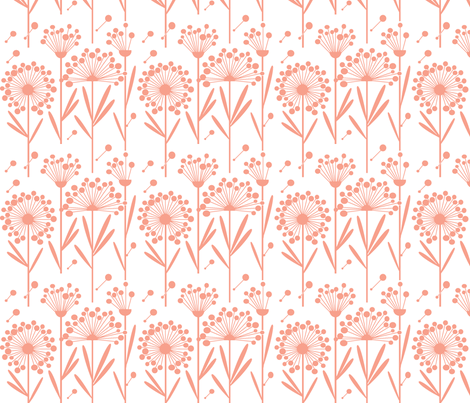 Autumn Dandelions Cheri 2 fabric by simplysweet on Spoonflower - custom fabric