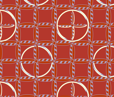 Hoops in Flametone fabric by glimmericks on Spoonflower - custom fabric