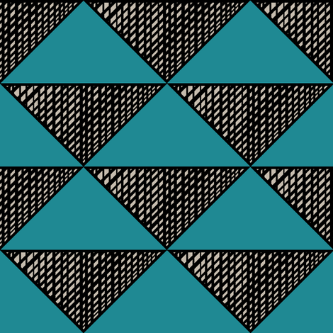 Triangle Blue fabric by pond_ripple on Spoonflower - custom fabric