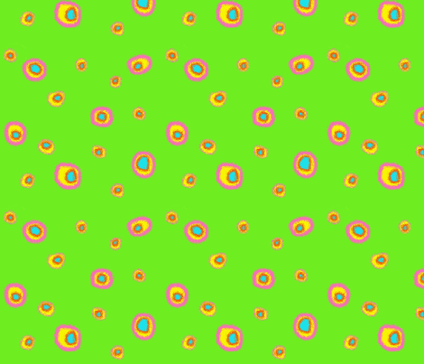 Bright Dots-Green fabric by mammajamma on Spoonflower - custom fabric