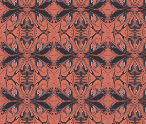 orangeblack fabric by katehasteddesigns on Spoonflower - custom fabric