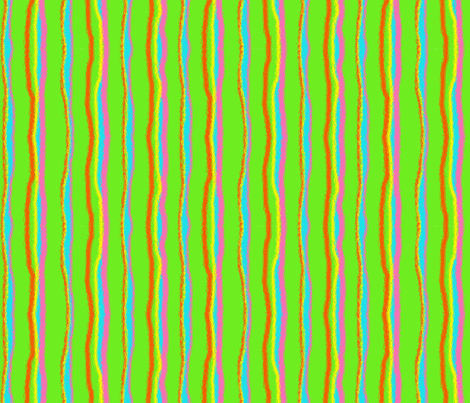 Bright Stripe-Green fabric by mammajamma on Spoonflower - custom fabric
