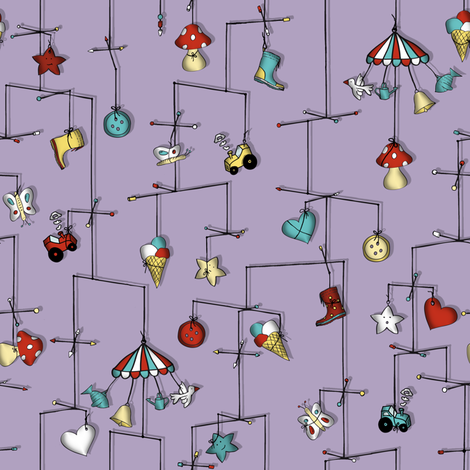 lost in reverie... (lilac) fabric by annosch on Spoonflower - custom fabric