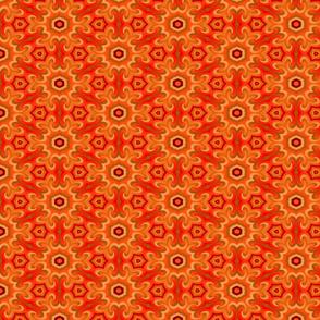 Vintage Flower orange