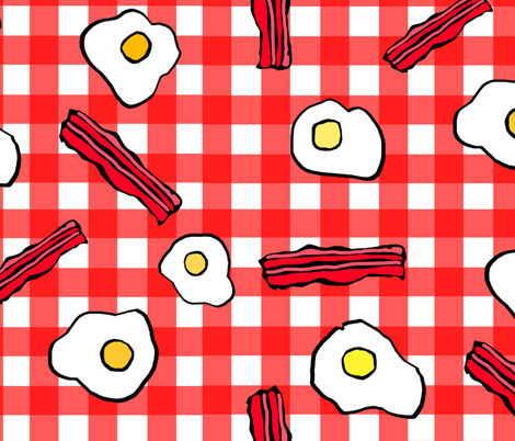breakfast2 fabric by lusykoror on Spoonflower - custom fabric