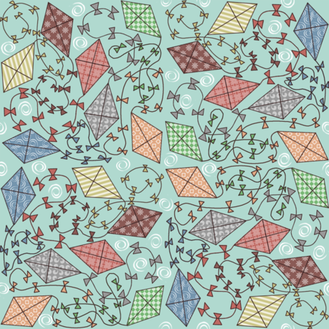 Aerial Tangle fabric by leeleeandthebee on Spoonflower - custom fabric