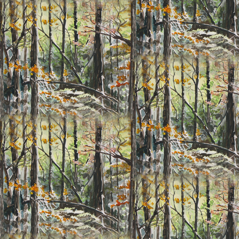 Autumn Woods fabric by eclectic_house on Spoonflower - custom fabric