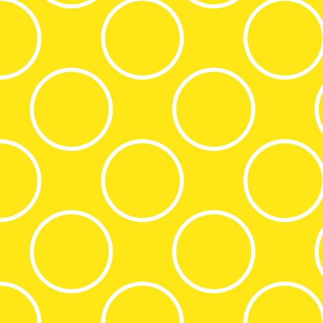 Yellow circles fabric by shelleymade on Spoonflower - custom fabric