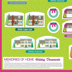 Memories of Home ornaments (yardage)