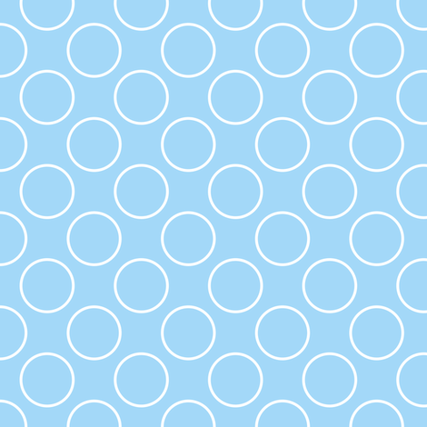 Blue Circle - Small scale fabric by shelleymade on Spoonflower - custom fabric