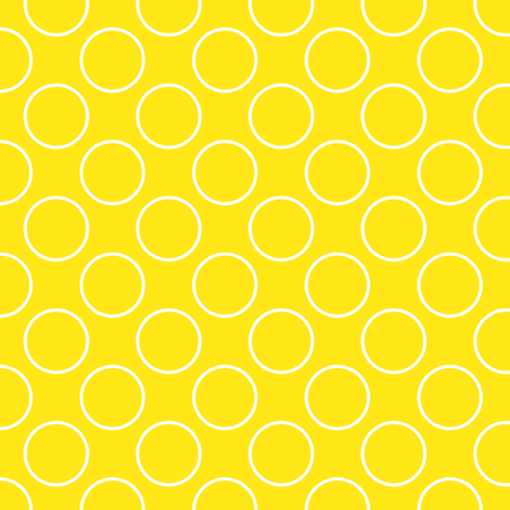 Yellow circles - small scale fabric by shelleymade on Spoonflower - custom fabric