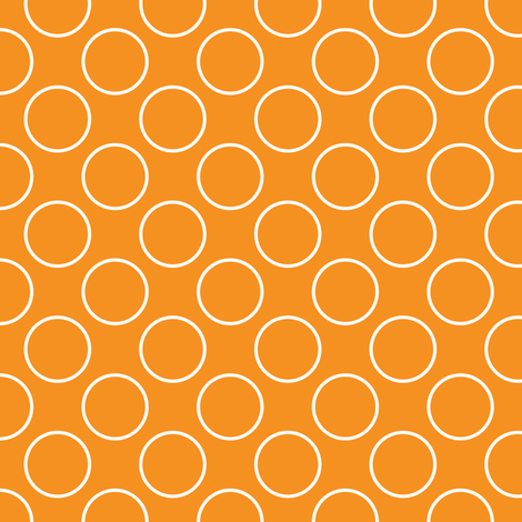 Orange Circles - Small scale fabric by shelleymade on Spoonflower - custom fabric