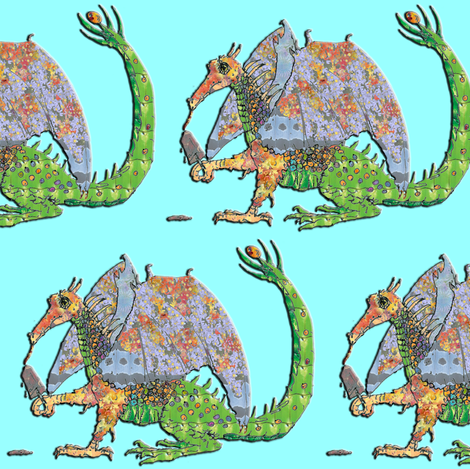 Hot Dragon fabric by eclectic_house on Spoonflower - custom fabric