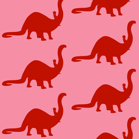 Apatosaurus Ride fabric by laurawilson on Spoonflower - custom fabric