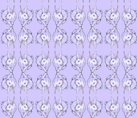 Purple Bunny Doodle fabric by eclectic_house on Spoonflower - custom fabric