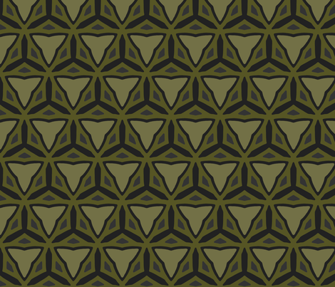 CallyCreates - Collioure - Moss fabric by callycreates on Spoonflower - custom fabric