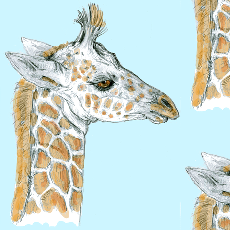 Giraffe Baby fabric by eclectic_house on Spoonflower - custom fabric