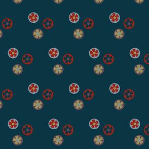 flower blossoms - navy