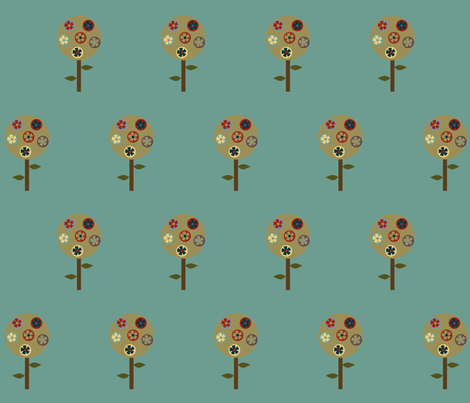 blooming tree fabric by krihem on Spoonflower - custom fabric