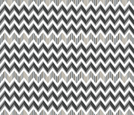 Chevron Contrast Large fabric by joanmclemore on Spoonflower - custom fabric