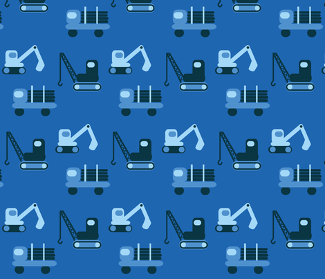 trucks-blue fabric by krihem on Spoonflower - custom fabric