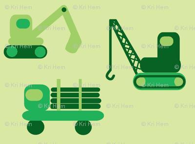 trucks- green