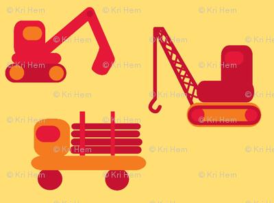 trucks - red