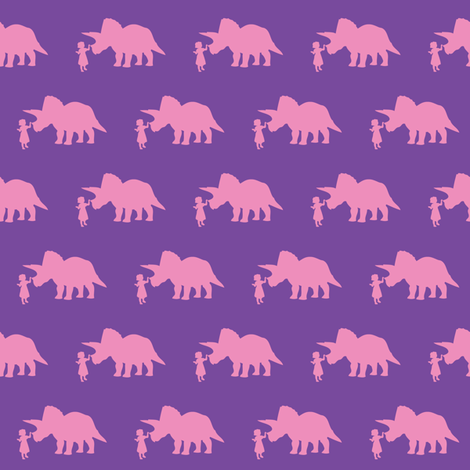 Pet Triceratops (small) fabric by laurawilson on Spoonflower - custom fabric