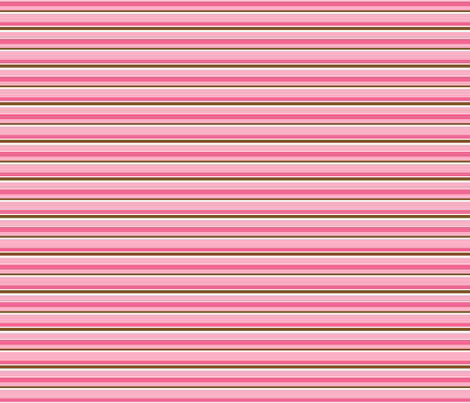 Chocolate pink stripe fabric by sew-me-a-garden on Spoonflower - custom fabric