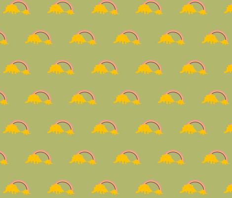 Spike Tail Rainbow fabric by laurawilson on Spoonflower - custom fabric