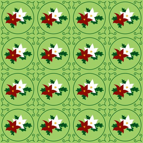 Rrpoinsettia_pair_of_seasonal_flowers_-_green_-_2012_tara_crowley_shop_preview