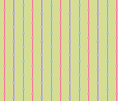 Heartstripes: Love Chain 9 fabric by penina on Spoonflower - custom fabric
