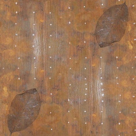rust and leaves fabric by trollop on Spoonflower - custom fabric