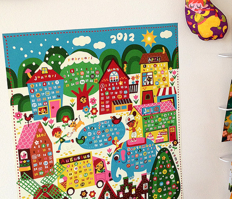 Calendar 2014 Wall decal.
