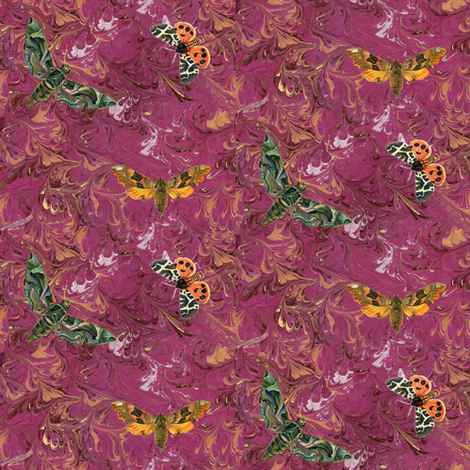 butterfly marble fabric by trollop on Spoonflower - custom fabric