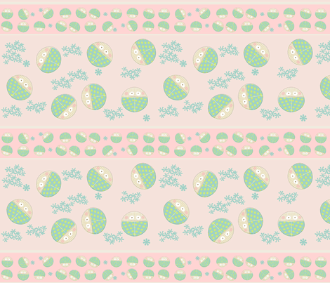 borders and ribbons in pink fabric by kato_kato on Spoonflower - custom fabric
