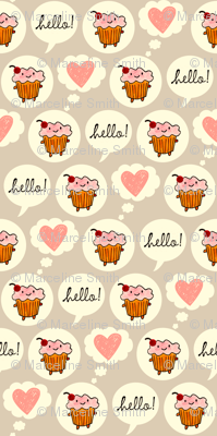 Hello Cupcake (Grey)