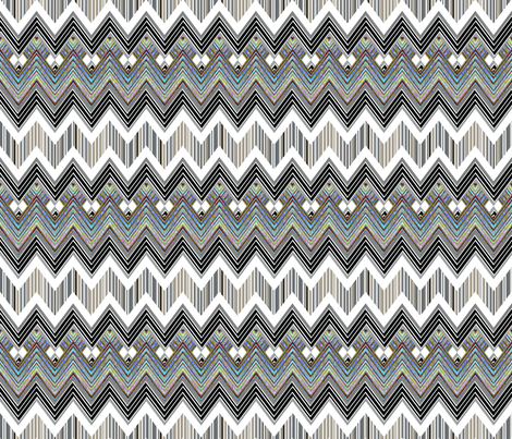 Chevron Hypnotic fabric by joanmclemore on Spoonflower - custom fabric