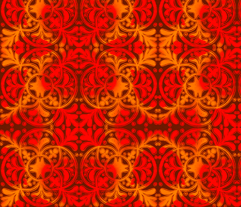 Interlock Red & Gold fabric by joonmoon on Spoonflower - custom fabric